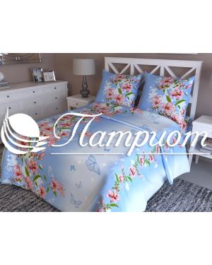 КПБ 1.5 спальный Жизель, голубой, набивная бязь 125 гм2 342-1