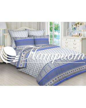КПБ 2.0 спальный с Евро простыней, набивная бязь 125 гм2 5749