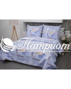 КПБ 1.5 спальный Арабеска, голубой, набивная бязь 142 гм2 356-1