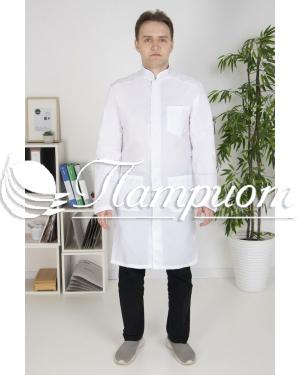 Халат медицинский мужской «Модельный» ткань ТИСИ Модель 5