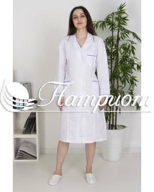 Халат медицинский женский «Модельный» ткань ТИСИ Модель 6