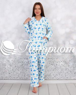 Пижама женская фланель